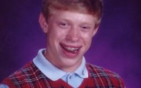 Caption: Reads blog post, doesn't leave comment...Regrets. Bad Luck Brian