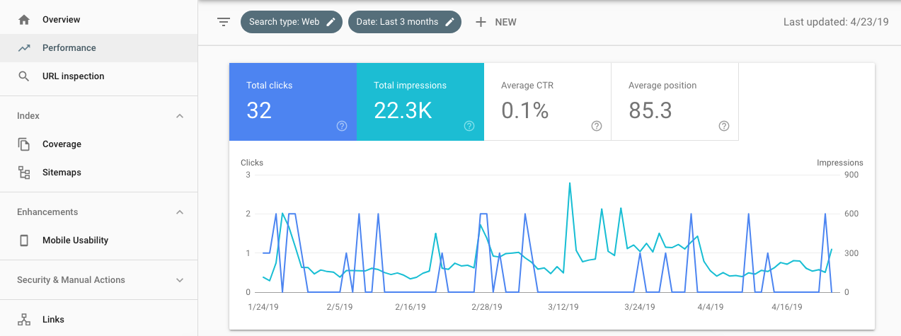 google search console screen cap