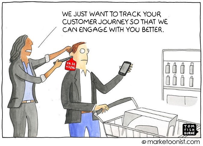 Marketoonist Cartoon Customer Tracking