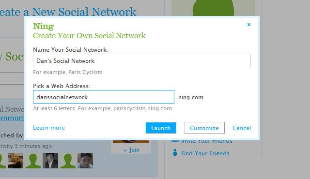 Create Your Own Social Network