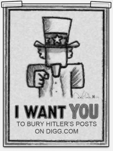 I want you to bury Hitler on Digg