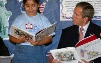 George Bush Holding Book