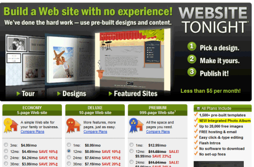 A GoDaddy WebSite Tonight review with images? Now we're spoiling you.
