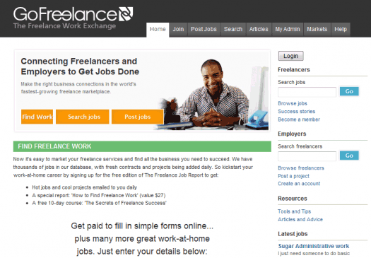 Frankly, I didn't expect a site like GoFreelance to look this good.