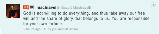Machiavelli Tweet: Glory