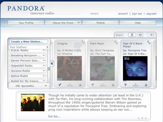 New Bandwidth Usage Policy - Pandora