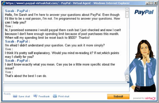 PayPal Virtual Assistant Fail
