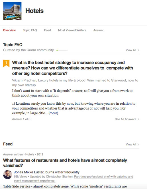 Hotel Question on Quora