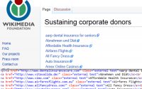 Wikipedia Sustaining Corporate Donor Links are DoFollow