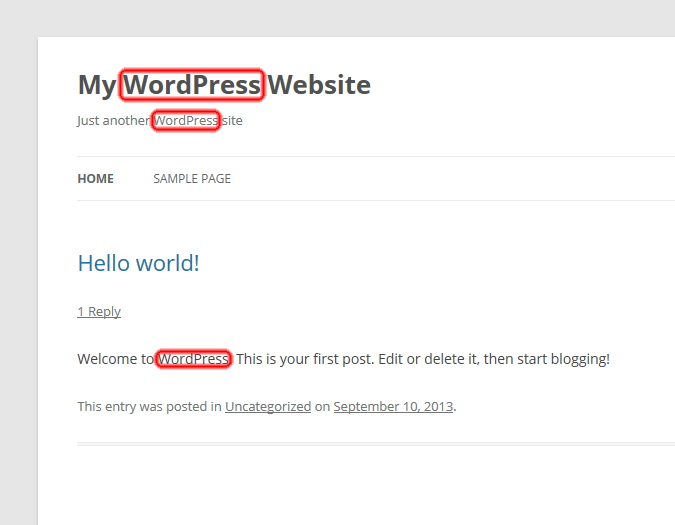 Screen Shot of WordPress Posts, Comments, Title and Description Defaults